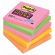 Karteczki samoprzylepne 76x76mm 3M Post-it 654S-N Super Sticky, kolor neon, 5x90 kartek