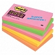 Karteczki samoprzylepne 76x127mm 3M Post-it 655S-N Super Sticky, kolor neon, 5x90 kartek